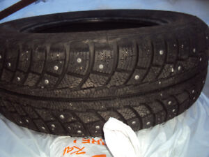 (4) Continental 195/65/15  Studded Winter Tires