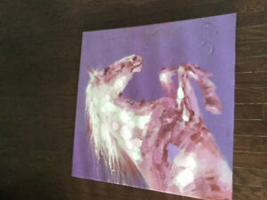 KIDS PURPLE HORSE CANVAS