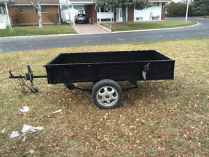 Home made utility trailer, good shape, tilts