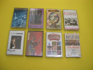(8)  CANADIAN ROCK MUSIC CASSETTES LOVERBOY, MEN WITHOUT HATS