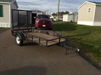 5x10 trailer with ramp, Perfect for side by side or Ski Doo!