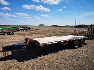 2013 25+5 Norberts tandem dually pintle hitch trailer