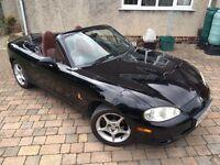 Mazda mx5 1.6 Black 2002 long MOT