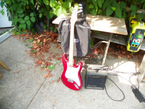 Electric Guitar and Amp.