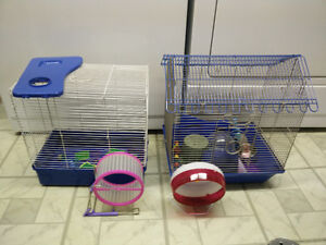 2 Hamster cages with lots of accessories