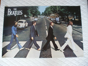 "The Beatles Crossing Abbey Road 36"" X 24"" Poster"