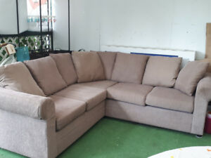 Light brown/biege color sofa... good condition used in basement.