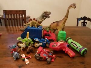 Dinosaurs and other toys