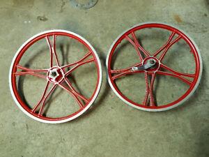 20 inch Vintage Lester Bmx Mag Wheels