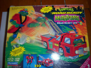 Retro Toy TMNT Turtles Road Ready Mutations Complete In Box