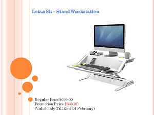 Lotus Sit - Stand Workstation - Brand New - Promotion Price