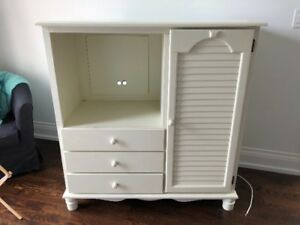 White TV and Storage Cabinet