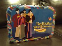 The Beatles Yellow Submarine large tin tode. Lunch box style.