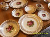 set de vaisselle porcelaine Empire England dish set #3091 Rawdon