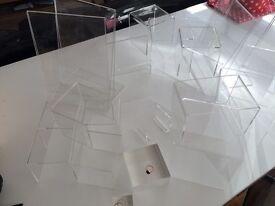 Perspex display materials for craft fair, market, shop