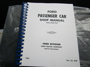 Ford Shop manual 1949 -50-51
