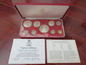 1973 Commonwealth Of The Bahama Islands Proof Set - 9 Coins