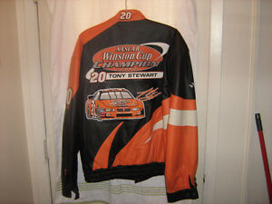 #20 Tony Stewart 2002 Winston Cup Champion Leather Jacket