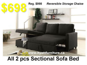 Brand New Fabric Sectional Sofa Bed only $698