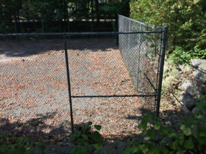 Plastic Coated Chain Link Fence - $1000 or Best Offer