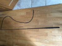 Nylon braided horse whip