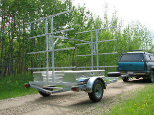 8 Place Canoe 16 Kayak Trailer with OPTIONAL Storage Boxes Edmonton Edmonton Area image 3