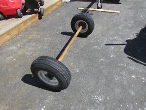 essieu avec roue