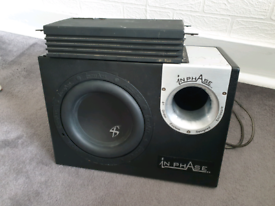 """8"""" subwoofer and vibe sub amp"""