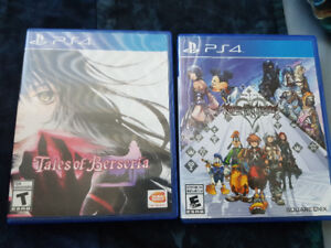 Various PS4 and PSVR games