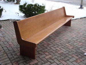 Church pew, Bench, Hall bench, Seating, Chair, London Ontario image 1