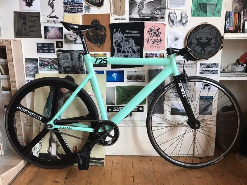 Leader 725tr 2012 58cm Fixie Fixed Gear Singlespeed Bike In