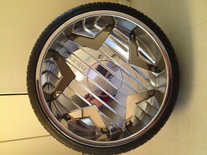 """24"""" rims and tires Windsor Region Ontario image 1"""