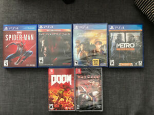 PS4/NINTENDO SWITCH Games for sale!