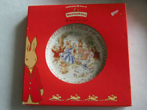 Royal Doulton Bunnykins 75th Anniversary Plate - New in Box