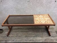 Classic Retro 1970s Fresco G Plan Tile and Glass Coffee Table