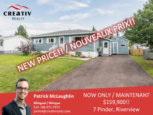 NEW PRICE!! 7 Pinder, Riverview! Heat Pump, Renovated, Must See