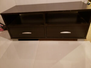 Modern style TV stand with 2 drawers