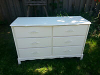 Painted white dresser