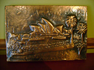 Hand made wall art, hammered in copper.