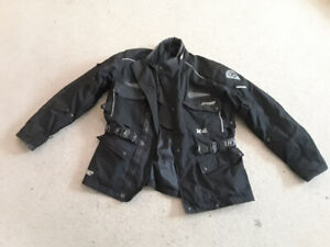Motorcycle jacket, boots, pants and chaps