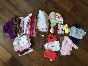 newborn, 0-3m, 6m,12-18m name brand baby girl clothing lots