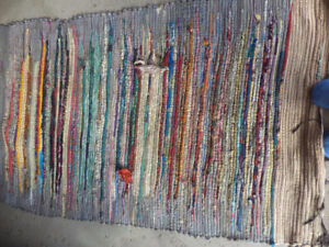 Cotton rag rug 68 by 40 inches needs repairs