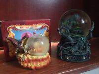 Dragon snow globes