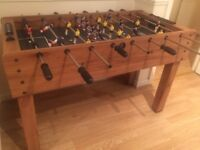 Wooden table football table - perfect condition