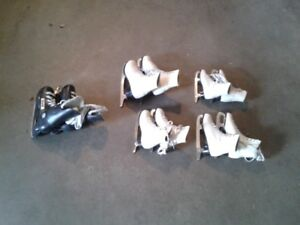 Three pairs of skates for sale. $2.00 each.