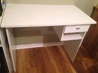 Computer desk in white