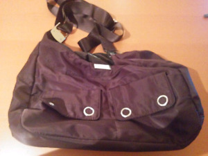 Roots Satin Brown Purse