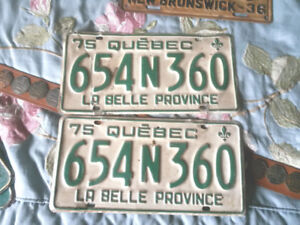 DEALERS LOT OF 67 NEW BRUNSWICK AND CANADA LICENCE PLATES