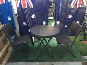 BRAND NEW 3PC FoldingTable Chair Set Flat PE Wicker Wantirna South Knox Area Preview