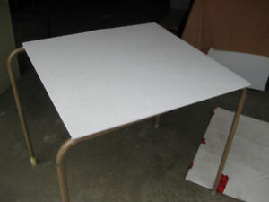 """30"""" Square Table with Metal Legs"""